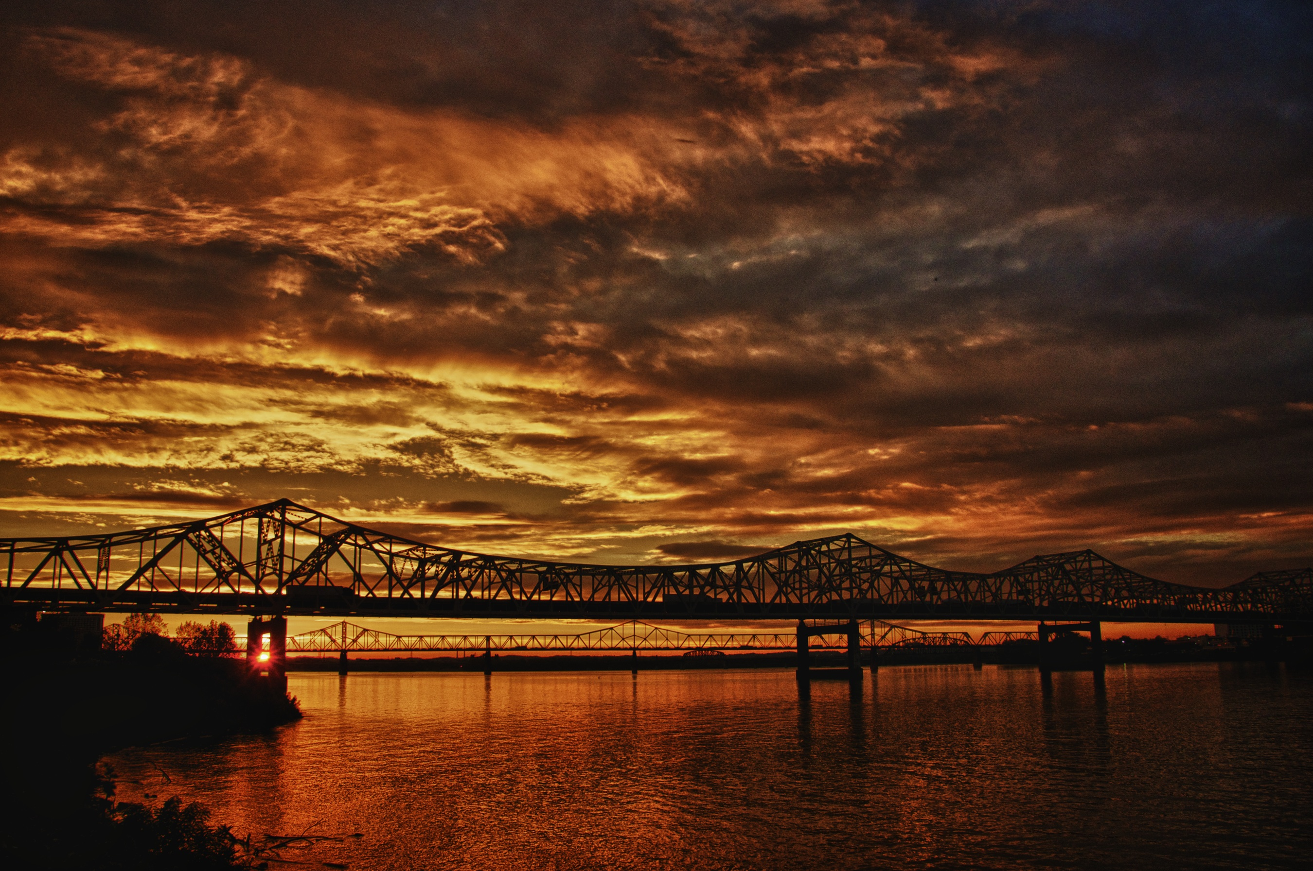 Flaming Sky Over Louisville