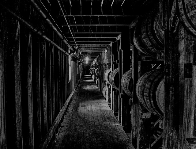 Whisky barrel warehouse