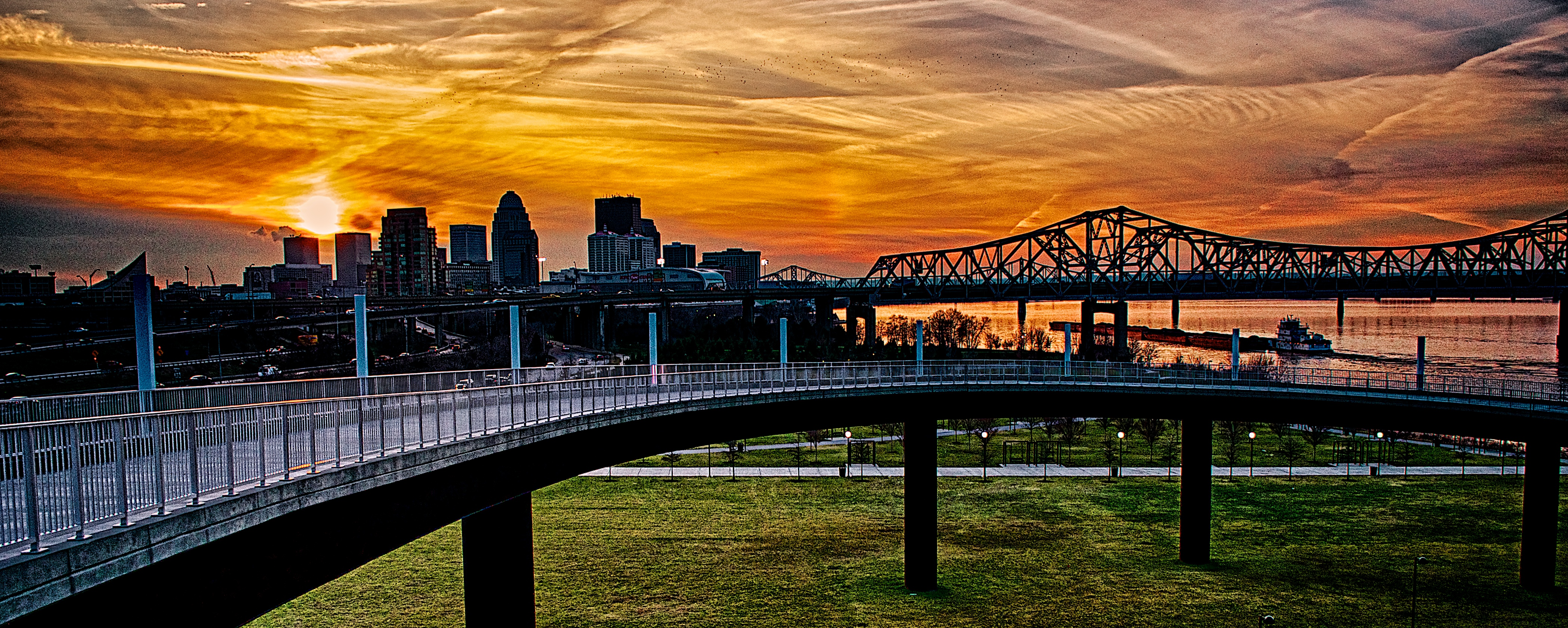 January Sunset Over Louisville