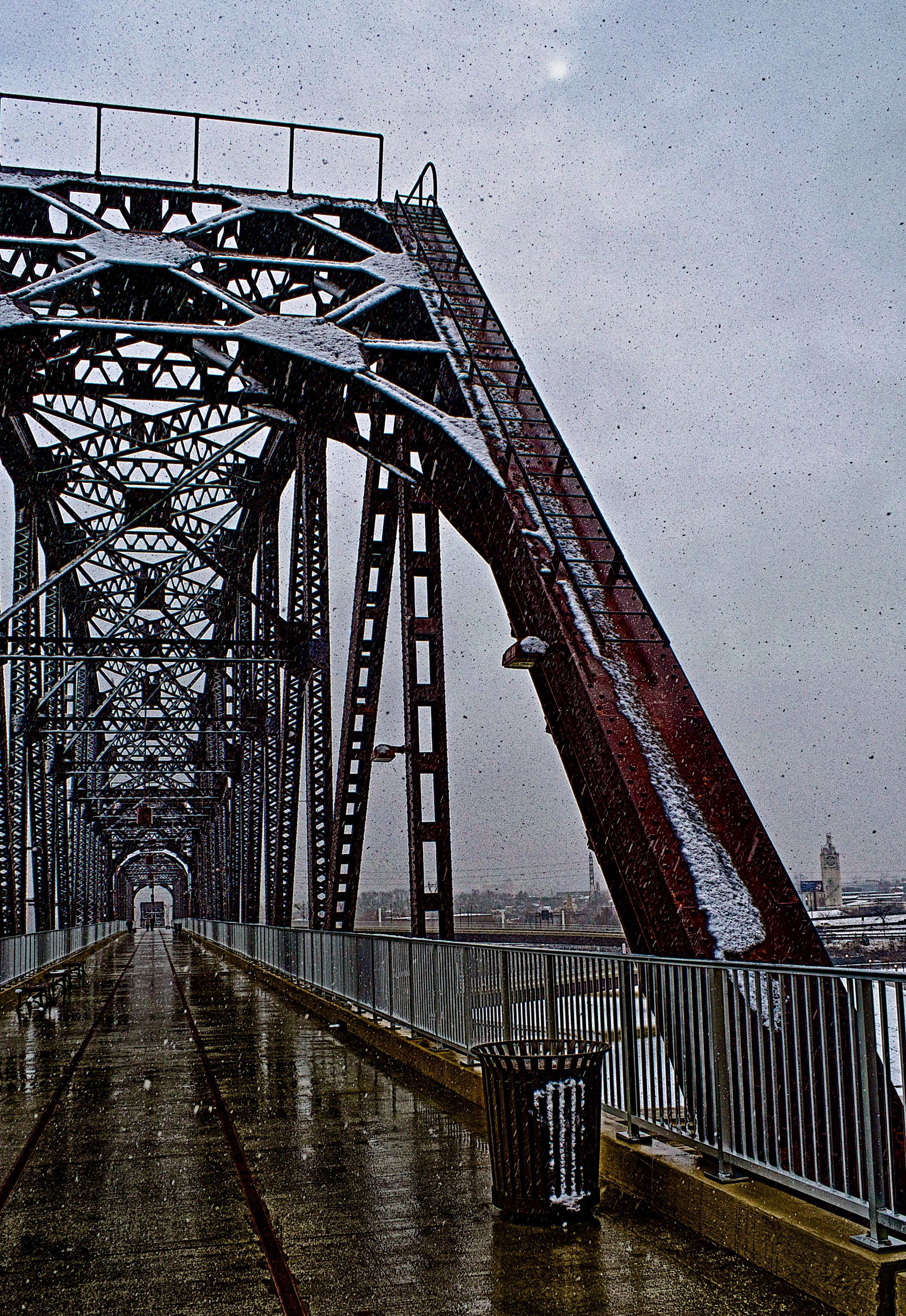Big Four Bridge in the Snow