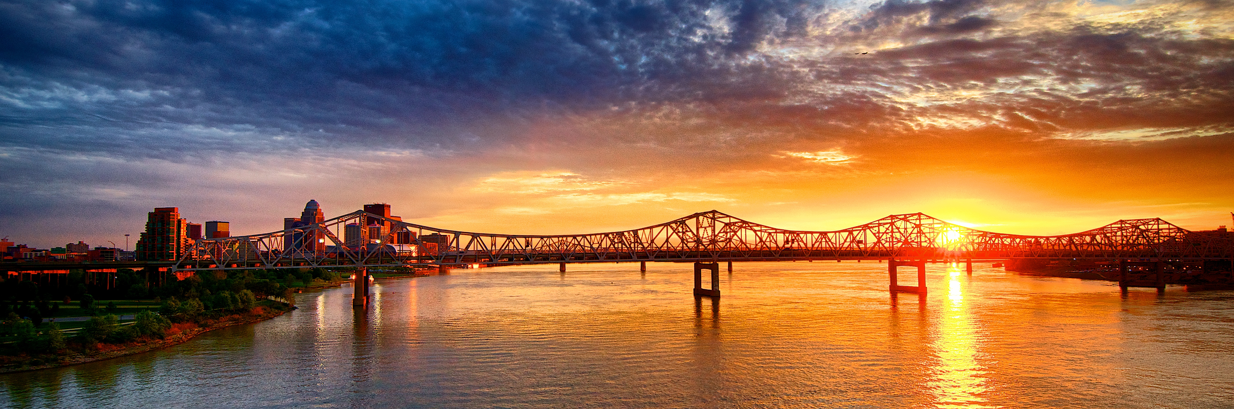 Ohio River Sunset Panorama