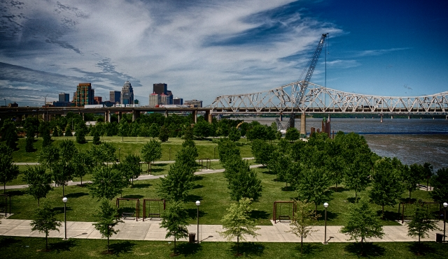 The first phase of construction on the Downtown Bridge is underway.