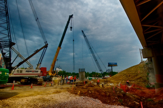 Cranes are the backbone of the construction process.