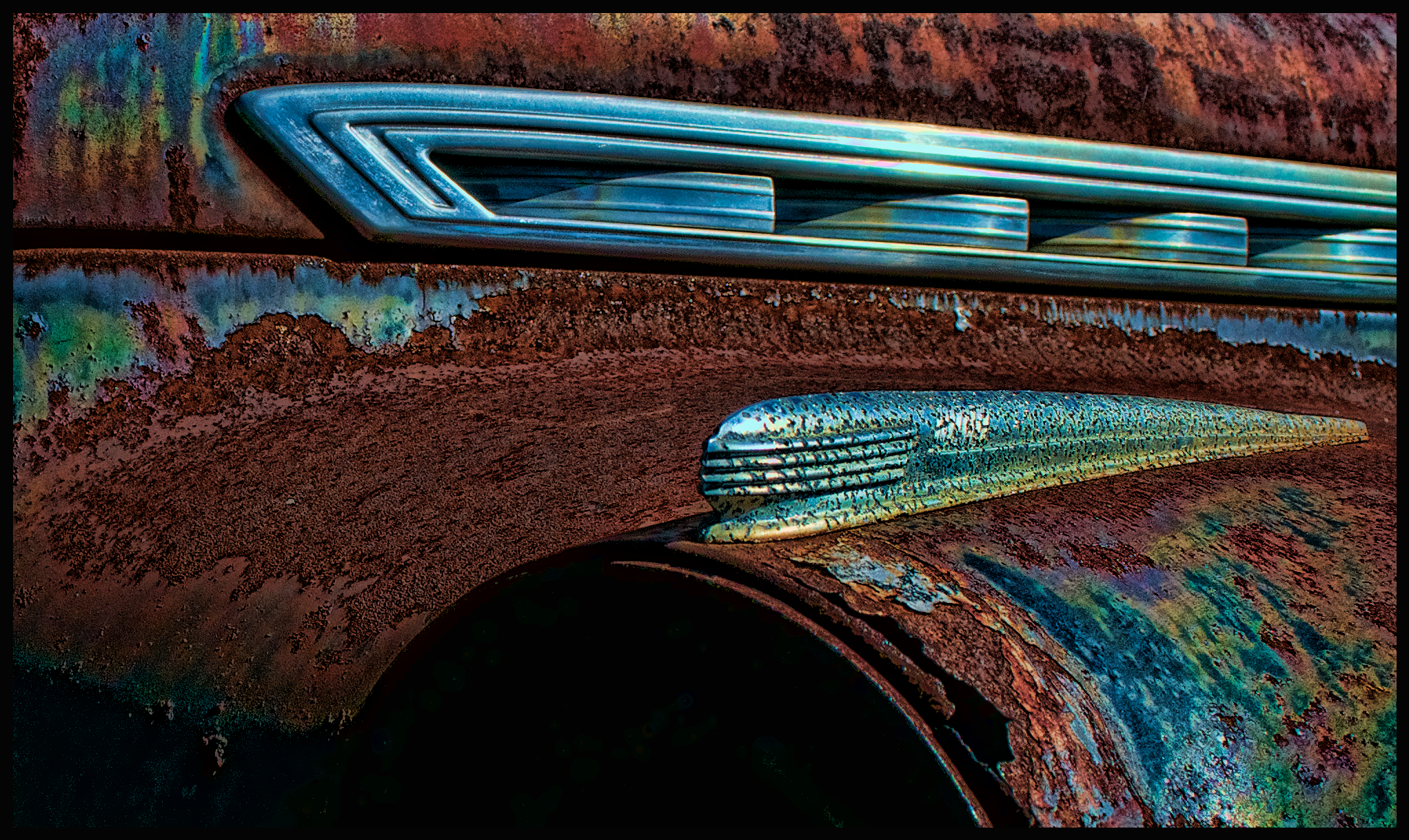 Rusty 1940 Chevrolet Detail