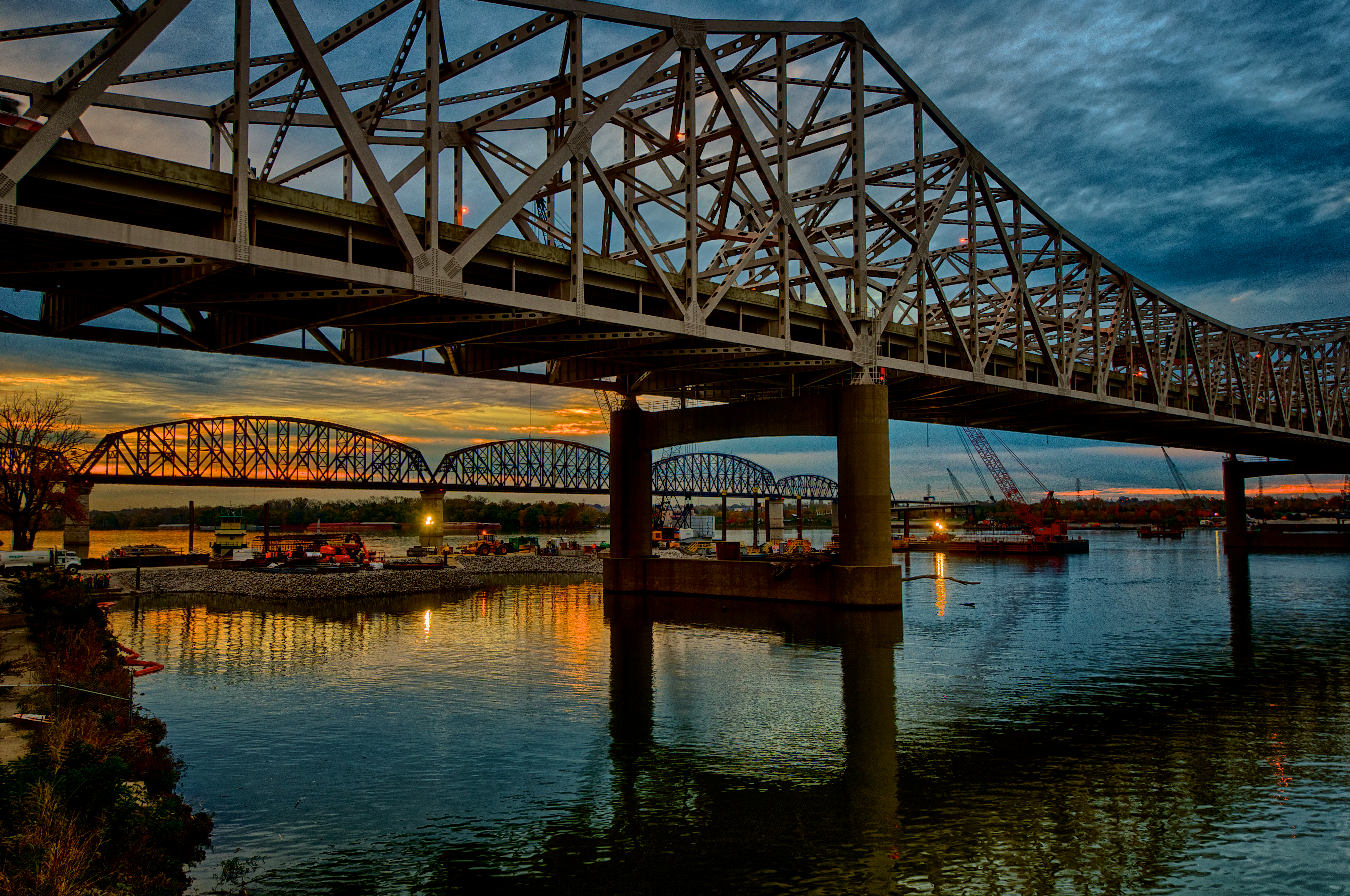Ohio River Bridges Project Morning